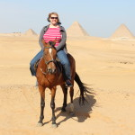 Horseback riding in the desert